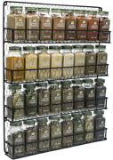 Spice Rack Organizer 4 Tier Country Rustic Chicken Herb Holder Wall Mounted