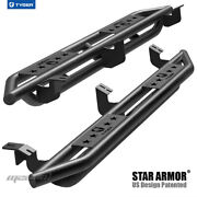 Tyger Star Armor Black Side Step Nerf Bars Fit 2005-2021 Tacoma Access Cab