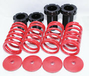 Coilover Lowering Coil Springs Set For 93-97 Corolla 95-98 Tercel Red/silver