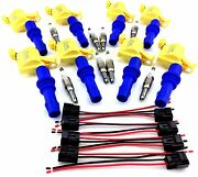 Ignition Coils For 04-08 F-150 F150 And 8 Spark Plugs And Connector Clips Set 5.4l