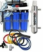 6 Stage Reverse Osmosis Drinking Water Filter System 150 Gpd - Uv Sterilizer Ro