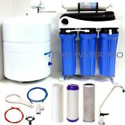 5 Stage Reverse Osmosis Drinking Water Filter System 300 Gpd - 6 G Tank