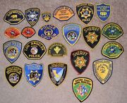 California Police And Security Vintage And Obsolete Arm Shoulder Patch Collectibles