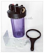 Big Fat 10 Jumbo Size Clear Whole House Water Filter System 1 Port W Bracket