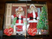 Lot Of 2 I Love Lucy Santa Barbie The Christmas Show And Ricky