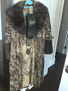 Vito Punto Fur House Russian Sable With Swakara Fur Coat Size It40 Us Size 2