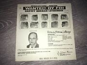 Rare Abortion Charge Pre-roe Vs Wade Dr Harvey Lothringer Fbi Wanted Poster