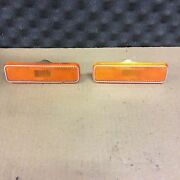 72 73 74 Challenger Barracuda Pair Side Marker Lights Used Oem Clean Pia 72 W