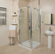 Roman Embrace Pivot Door With Optional Side Panel And Tray Shower Door
