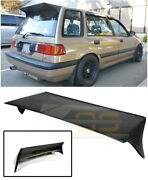 For 88-91 Honda Civic Wagon Jand039s Style Jdm Primer Black Rear Roof Wing Spoiler