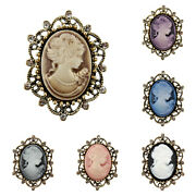 Antique Bronze Cameo Vintage Victorian Style Brooches Various Colours