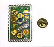 1987 Girl Scout 75th Anniversary Pin 22 Cent Usps Stamp Junior Badges Large Size