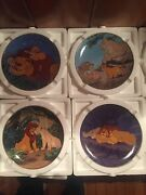 Disney Lion King Collector Plates By Bradford Exchange Complete Set Of 12