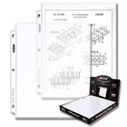 Box Of 100 Bcw 1-pocket Currency Album Pages 8andfrac12 X 11 Cs130