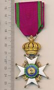 Germany Wwi Saxe Ernestine Gold House Order 1st Class Knight 18k Gold Ribbon Rr
