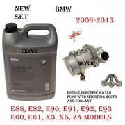 Engine Cooling Electric Water Pump+bolts+coolant Set For Bmw E60 E61 E90 X3 X5