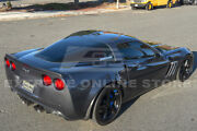 For 05-13 Corvette C6 Zr1 Style Abs Plastic Painted Rear Lip Spoiler And Hardware