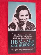 1930and039s Handley Brown H-b Spring-fall Removable Gas Furnace Burner Brochure