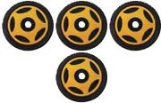 4 Front Rail Gold Idler Wheels Kit For Snowmobile Arctic Cat Prowler 1990-1995