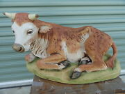 Fontanini 27 Seated Ox Nativity Statue Made In Italy