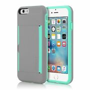 Genuine Incipio Stowaway Case For Iphone 6 And 6s 4.7 Dark Grey And Teal