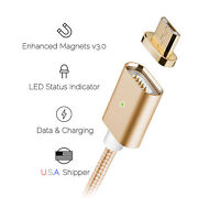 [upgraded] Magnetic Microusb Cable Detachable Data Charge Android Devices Gold