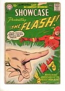 Showcase 8 2nd App The Flash Origin And 1st Captain Cold Key Dc 1957 Vg+ 4.5