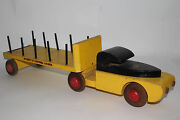 1940and039s Buddy L Timber Semi Truck Wooden Original
