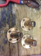 Bronze Boat Stantion Angled 7/8 Hole 4 Mounting Holes Sold Separately