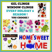 Holiday / Seasonal Gel Window Clings So Many To Choose From Buy 2 And Save