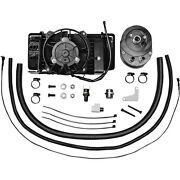 Jagg Oil Cooler Kit 751-fp2400 With Intergrated Fan For Harley 2008-2013