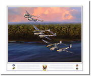 Aceand039s Of The Eighth Fighter Group By Jack Fellows - P-38 Lightning-aviation Art