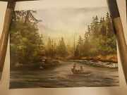 David Hagerbaumer 1984 Federation Of Fly Fishers Limited Edition Of 253 - Signed