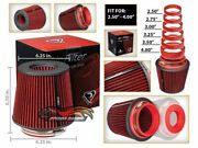 Short Ram Cold Air Intake Filter Round/cone Universal Red For Oldsmobile 2