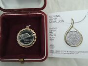 1987 Nature Series Gold Pendants / Adillion With Leopard And Lily Silver Medal