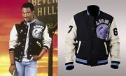 Beverly Hills Cop Axel Foley Detroit Lions Vintage Wool - Leather Sleeves Jacket