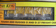 Mth Rail King O Scale Cnw Flat Car W Bulkheads And Lcl Containers 30-76053 Nib