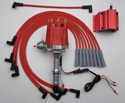 Small Cap Buick 300 340 Red Hei Distributor + 50,000 V Coil + Spark Plug Wires