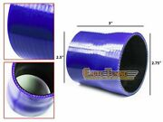 2.75 To 2.5 Silicone Intake/intercooler Pipe Coupler Blue For Mercury/volvo