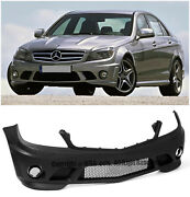 For 08-11 Mercedes Benz W204 C-class Sedan Amg Style No Pdc Front Bumper Cover