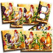 Country Farm Rooster Chickens Light Switch Wall Plate Outlet Kitchen Room Decor