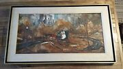 Robert Lebron Painting - Signed - Horse And Carriage In Central Park Nyc