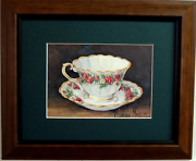 Tea Cup And Saucer Picture Kitchen Dinning Room Matted Framed 8x10