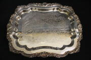 Vintage Silverplate Epca Poole Silver Shell Pattern 403 Footed 14 Tray Usa
