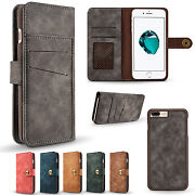 10pcs/lot Retro 2in1 Magnet Detachable Wallet Leather Case For Iphone 12 Pro Max