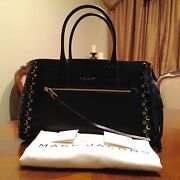 Nwt Marc Jacobs Laces The Big Big Apple Tote In Black With Antique Gold