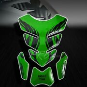 3d Gel Fuel/gas Tank Pad Protector Decal/sticker Green+black Tribal Fire/flame