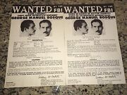 George Robin Hood Bosque Brinks Bank Robbery Fbi Wanted Posters Eng/spanish