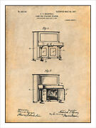 1907 Steinway Upright Piano Patent Print Art Drawing Poster