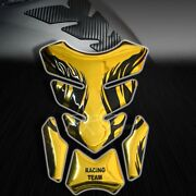3d Gel Fuel/gas Tank Pad Protector Decal/sticker Chromed Gold+black Tribal Fire